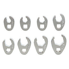8 Pc 3 8 Dr Sae Flare Nut Crowfoot Wrench Set Plt 99310