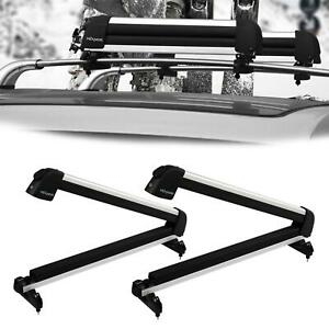 Universal Ski Roof Rack Carriers For Crossbar Carry 2 Snowboard 4 Pair Skis