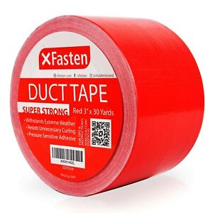 Xfasten Super Strength Duct Tape Red 3 X 30 Yards
