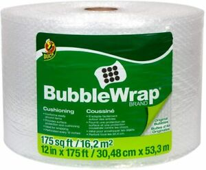 Duck Brand Bubble Wrap Roll Original Bubble Cushioning 12 x175 Perforated Usa