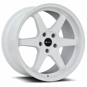 Vors Tr37 18x9 5 5x114 3 22 White Wheels 4 73 1 18 Inch Rims