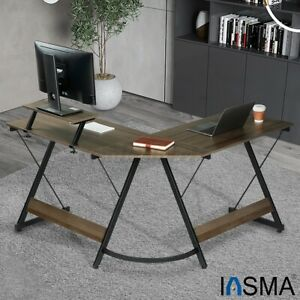 L shaped Computer Desk Pc Laptop Table Workstation Study Home Office Furniture