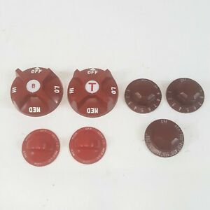 Lot 7 Vintage Commercial Stove Knobs For Vulcan