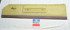 1973 73 1974 Dodge Charger Se Brougham Front Upper Door Panel Light Gold Right