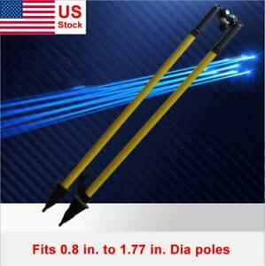 Prism Pole Thumb Release Bipod For Surveying gps Range
