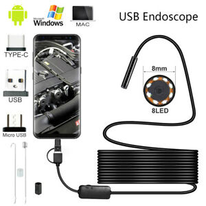 Usb Endoscope Borescope Snake Inspection Camera Android Mobile Phone 2m 3 5m 5m