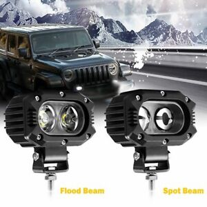 800w 4inch Cree Led Work Lights Pod Spot Flood Combo Offroad 4x4 Driving Light