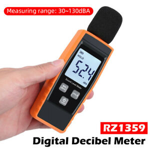 Digital Sound Pressure Level Decibel Noise Meter Tester Measurement 30 130db Lcd