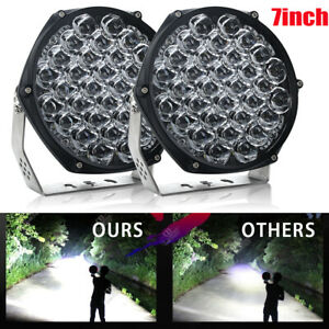 2x 7inch 510w Round Led Work Lights Bull Bar Driving Pods Car Truck Off Road 4wd