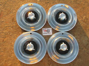 1957 Chrysler Imperial 14 Wheel Covers Hubcaps Set Of 4