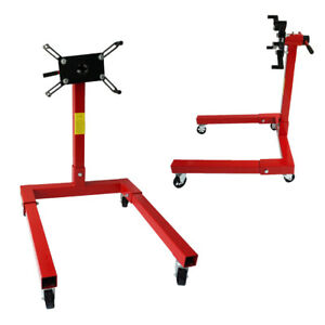 1250lbs Engine Stand Motor Hoist Dolly Mover Car Auto Repair Rebuild Jack 360