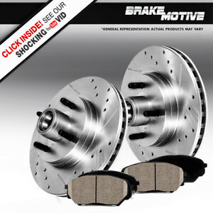 Front Drilled Slotted Brake Rotors And Ceramic Pads For 1993 Ford Mustang Cobra