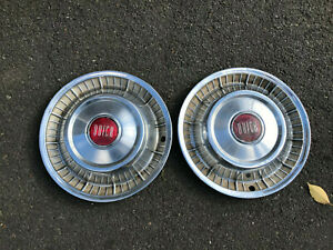Pair Of 1957 Buick Roadmaster Super Special 15 Wheel Covers Hubcaps 2