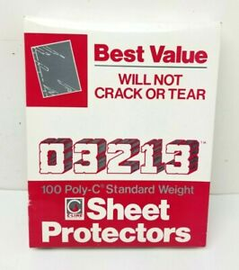 100 Ct C line Standard Weight Poly Sheet Protectors Clear W Black Liner 8 5x11