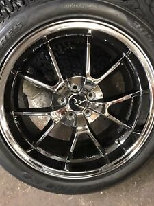 Mustang High Perf 20 Chrome Wheels Tires Set 4 Mint Replica Gt 500 Awe
