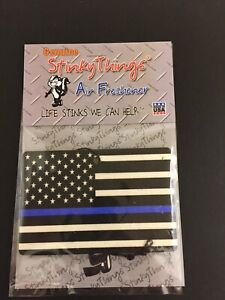 Thin Blue Line American Flag Car Air Freshener Buy 5 Get 1 Free Police Pd