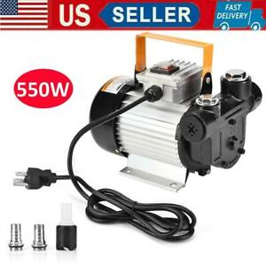 550w Self Priming Electric Oil Pump Transfer Fuel Diesel Cast Iron 110v 60 70l m
