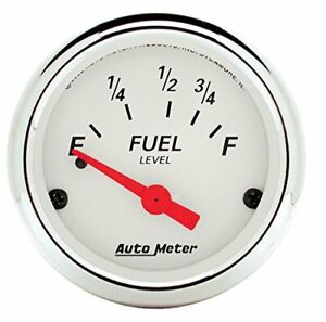 Auto Meter 1316 Arctic White Fuel Level Gauge