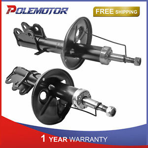 Pair Front Left Right Shock Absorbers For 98 02 Toyota Corolla Chevrolet Prizm