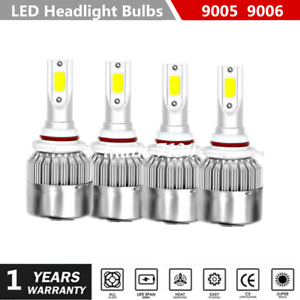 For Chevrolet Silverado 1500 1999 2006 Car Led Headlights Bulbs 9005 9006 Kit