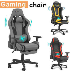 Gaming Chair Racing Office Computer High Back Adjustable Seat Swivel Recliner Us