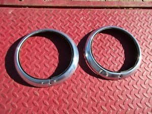 Nos 1951 1952 Chevrolet Passenger Car Headlight Bezels