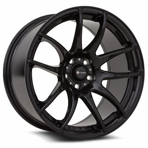 Vors Tr4 17x8 17x9 5x114 3 35 30 Black Wheels 4 73 1 17 Inch Staggered Rims