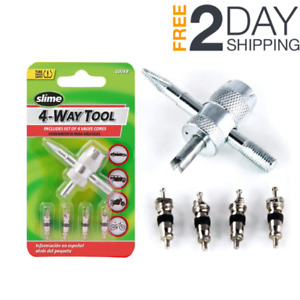 4 way Car Bike Tire Valve Core Repair Tiny Remover Tool Bicycle Stem Cores Small