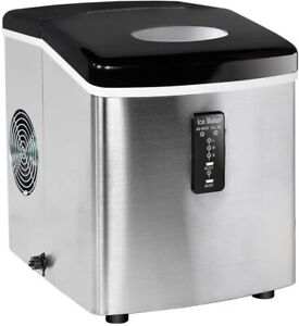 33lbs day Stainless Steel Electric Compact Countertop Automatic Ice Cube Machine