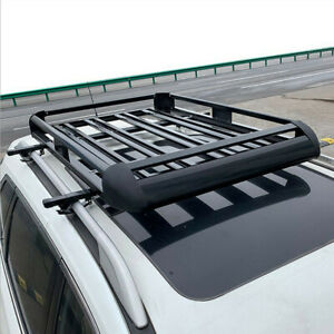 Universal Roof Rack Cargo Car Top Luggage Carrier Basket Traveling Suv Holder Hd