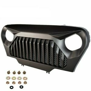 Front Bumper Grill Grille Matte Black Angry Bird For Jeep Wrangler Tj 1997 2006