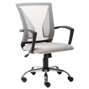 Ergonomic Mesh Office Chair Adjustable Swivel Executive Mid Back Computer Chair
