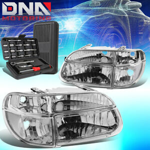 For 1995 2001 Ford Explorer Mountaineer Chrome Clear Headlight Bumper Lamp Tools