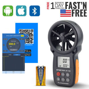 Anemometer With Phone App Wireless Bluetooth Meter Measuring Wind Chill speed