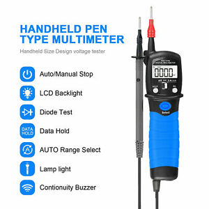 Digital Multimeter Pen Type Meter Auto Range Lcd Ac Dc Voltage Electronic Diode