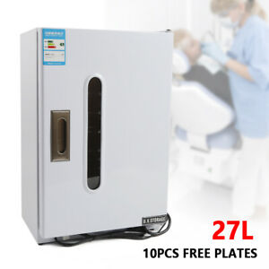 Dental Medical 27l Uv Sterilizer Disinfection Cabinet With 10pcs Free Plates New