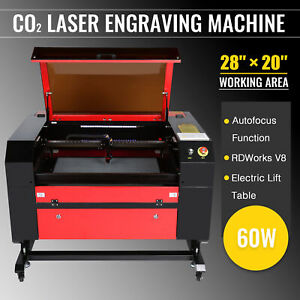 28 x20 60w Co2 Laser Engraver Cutter Ruida Dsp Auto Focus Electric Lift Table