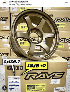 Volk Racing Te37 Large Pcd Bronze 18x9 0 6x139 7 In Stock