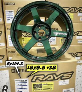 Volk Racing Te37 Saga 18x9 5 38 5x114 3 Racing Green In Stock