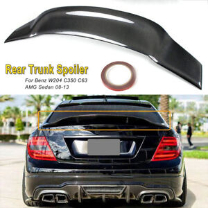 For 08 13 Mercedes Benz W204 C250 C300 Carbon Fiber Psm Style Trunk Spoiler Wing