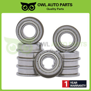 10pcs F688zz 8mmx16mmx5mm Flanged Miniature Double Shielded Ball Bearing Pulley