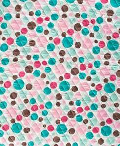 Quilted Car Back Seat Cover Party Polka Dots