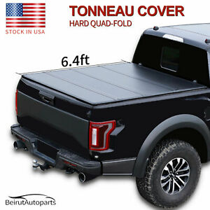 6 4ft Hard Quad Fold Truck Bed Tonneau Cover For 2019 2020 Ram 1500 Classic