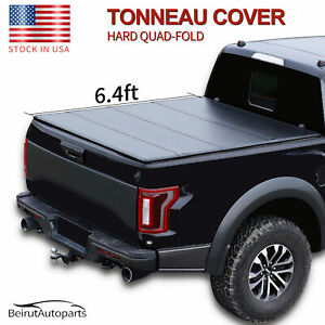 6 4ft Hard Quad fold Tonneau Cover Truck Bed For 2019 2020 Ram 1500 Classic