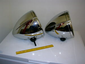 1931 1932 Chrysler Re Plated Chrome Brass Headlights Fd19