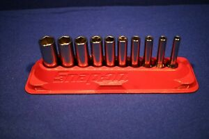 Snap On 110stmy 10 Pc 1 4 Drive 6 Point Sae Deep Socket Set 3 16 9 16