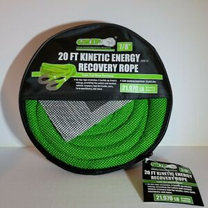 Grip 7 8 X 20 Kinetic Energy 4x4 Truck Tow Recovery Rope 21 970lb Strap Snatch