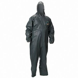 Hooded Chemical Resistant Coveralls Pyrolon r Crfr Material brown From Lakeland