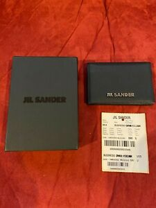 Jil Sander Card Holder New In Box Black Leather Condition Is New