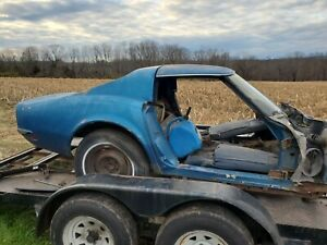 1968 Corvette Parts Car Firewall Back With Title And Tag